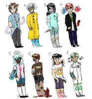 (open) (points to adopt) A bunch o adoptables by edamames