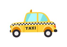 Taxi Flat Vector by superawesomevectors