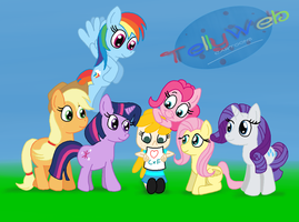 Fiona and the Mane Six by tellywebtoons