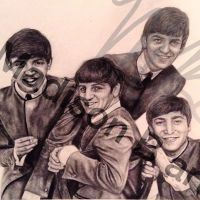 Beatles Drawing by Chicoandpaco1