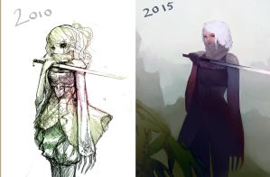 before and after by humanealien