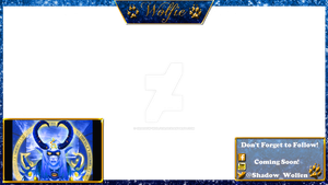 Twitch Overlay With Camera/Chat Cover Up! by Shadow-Wolfen