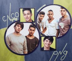 CNCO Pack Png by BOSSofMyMIND