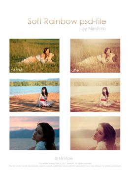 Soft Rainbow psd-file by Nimfale