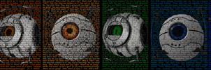 Aperture Science Cores by gamma097