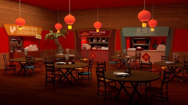 3D Model: Fancy Chinese Restaurant by Mainecare