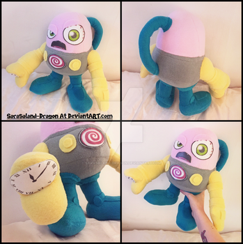 Commission: Small N.Trance Plushie by Sarasaland-Dragon
