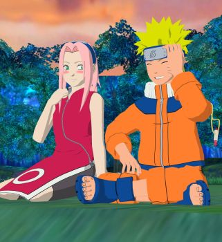 Naruto And Sakura: first date by blueblazing36