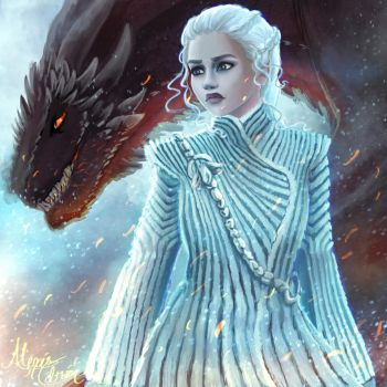 Daenerys and Drogon by Colorpalette-art