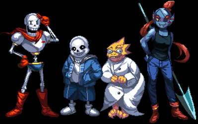 Undertale Royal Guard by Velurie