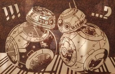 BB-8 Meets BB-H8 by 9FIVE7
