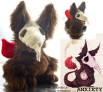 Anxiety: the Real Monster plushie! (WAITLIST OPEN) by smashfold