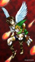 Pit and Toon Link: Running awa by Zilkenian
