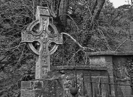 Celtic cross - Layde Church by UdoChristmann