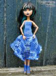TinySunflower in Blue (FOR SALE!) by IceBluemchen