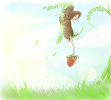 Holding the Strawberry by Kiimmey