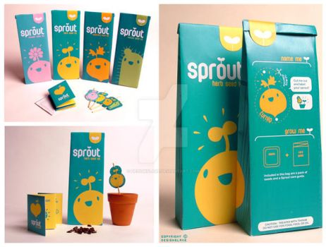 Sprout - seed kits by designslave