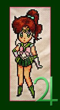Cross Stitch Sailor Jupiter by Krasi90