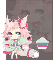 [CLOSED] Adopt Auction 02 : Green and Pink by Piffi-sisters
