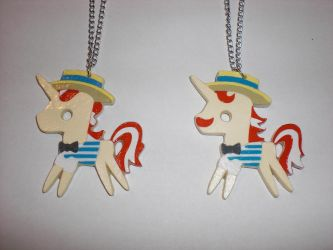 Flim and Flam Paper Pendants by Bunnygirl2190