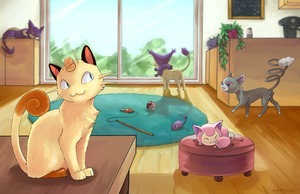 Welcome to the Pokemon Cat Cafe