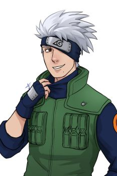 Kakashi unmasked by WinterMaiden11