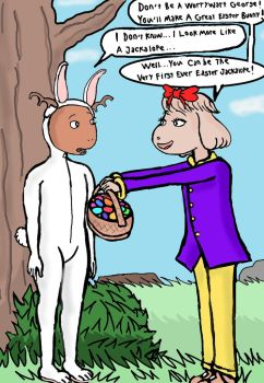 George the Easter Jackalope by harbinger-project