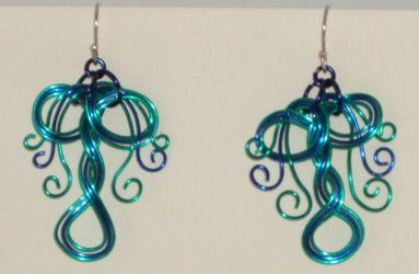Raintree earrings by Catgoyle