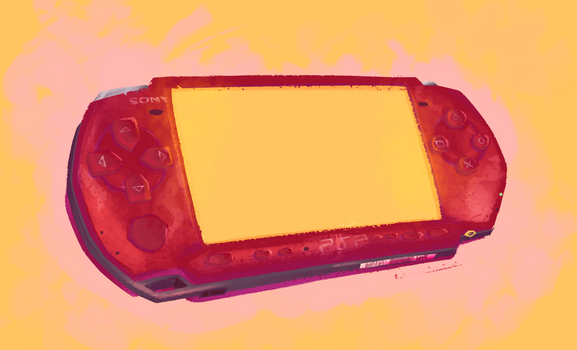 my PSP by BuduFamousPosleDeath