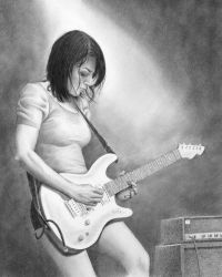 Girl with guitar by miketcherry