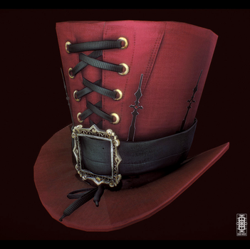 Lowpoly Top Hat Study by Eden-West