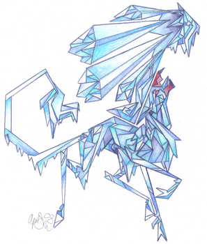 Ice Elemental Gryph by Fire-of-Heaven