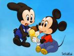 Mickey and Ozzie by twisted-wind