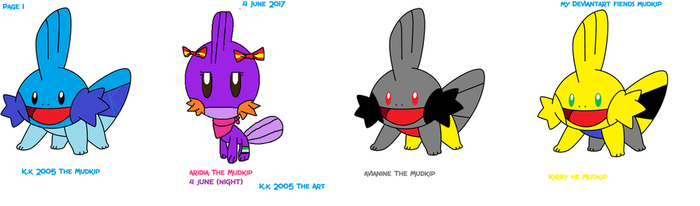 Deviantart The Mudkip Page  1 Update by kk2005mudkipart