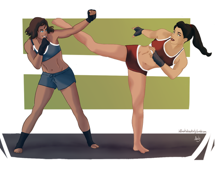 Sparring by AndyDraws-90