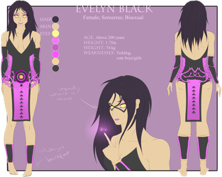 Evelyn Black(Profile) by Silverleinchen-dblihuw by xitres