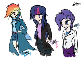 MLP:FiM Humanised Sketches by MrAsianhappydude