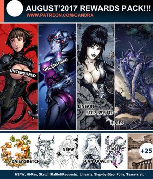 Patreon August Rewards by Candra