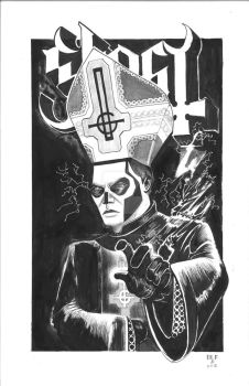 Papa Emeritus commission Ghost by DoctorFantastic