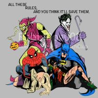 The Joker and the Green Goblin  All These Rules by RabidDog008