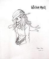 Winter Rock by ladyburrfoot