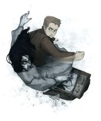 Dean Winchester vs The Ring by JoannaJohnen