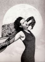 Lady in the Daylight Moon by Cavetroll1