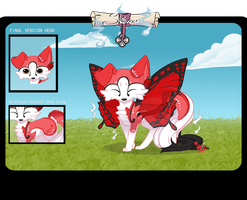 [CLOSED] Red Butterfly Sloxou Auction by Miru-Studios