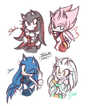 Sonic gender changing by 1412Shadow