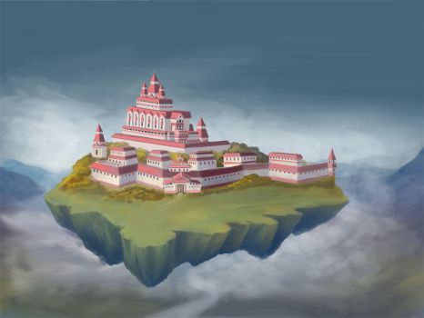 Flying Castle-Island by NoinHvainHtain
