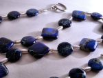 Necklace: Silver and Blue by LissaMonster