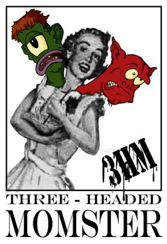 Three Headed Momster Logo by Quell-117