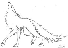 Wolf Line Art by Vampire-At-Heart