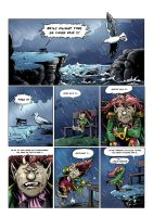 Colored funny comics page by tejlor